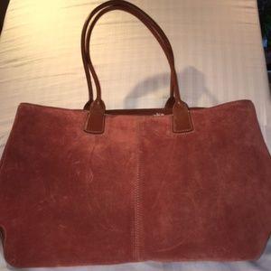 Cole Haan Large Suede Leather Handbag